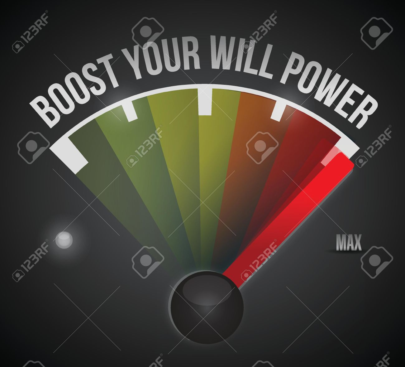 boost your will power to the max illustration design over a black background